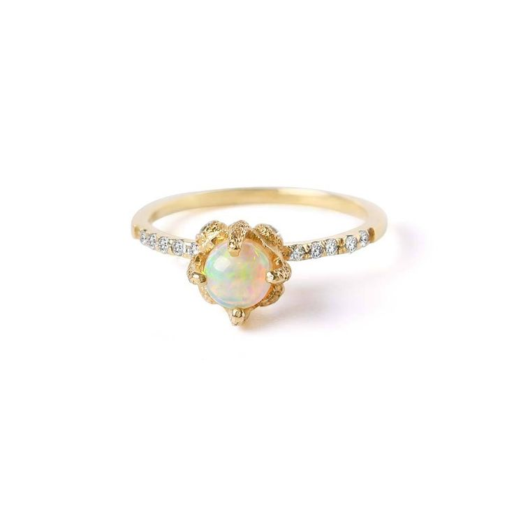 Element Solitaire Opal Engagement Ring