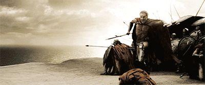 Michael Fassbender in '300' (as Stelios)