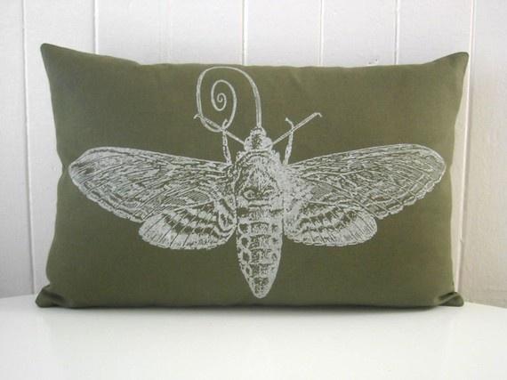 vintage moth silk screened