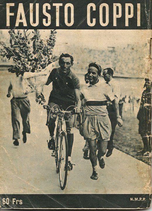 Tour de France 1949, 24 luglio. 21^Tappa. Nancy - Parigi. Parc des Princes. Fausto Coppi 81919-1960) al giro d'onore.