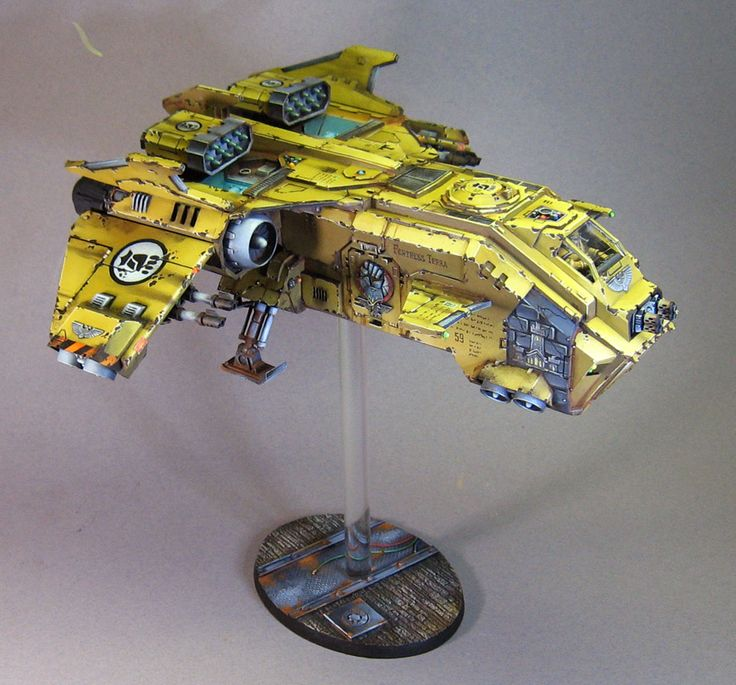 40k - Imperial Fists Storm Eagle by James Wappel Miniature Painting