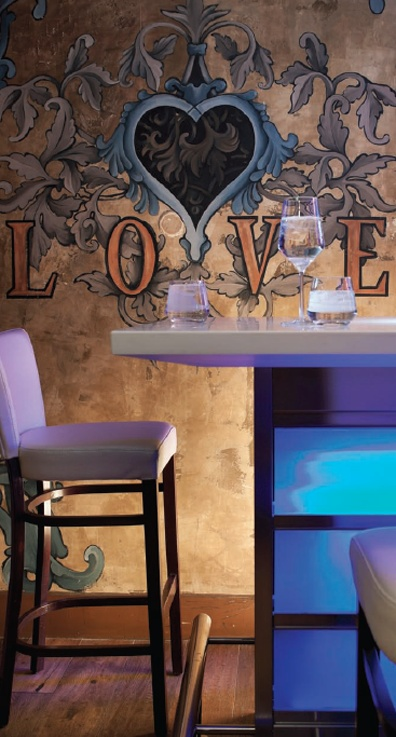 Love painted wall mural