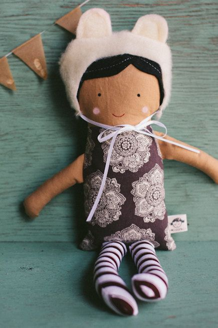 dollie with bear hat