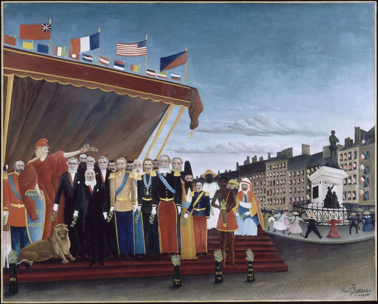 The Representatives of Foreign Powers Coming to Salute the Republic as a Sign of Peace - Henri Rousseau