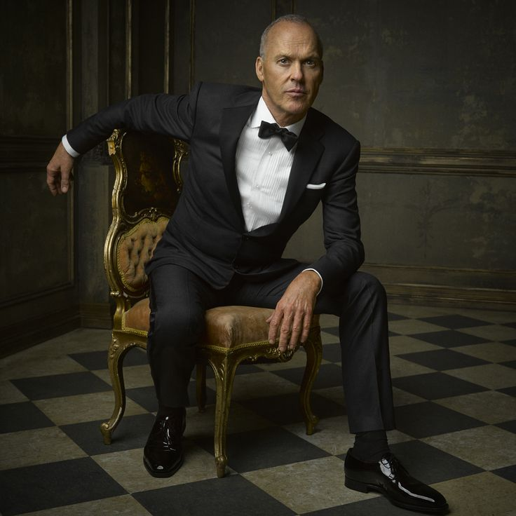 Michael Keaton in Ralph Lauren at the 2015 Vanity Fair Oscar Party