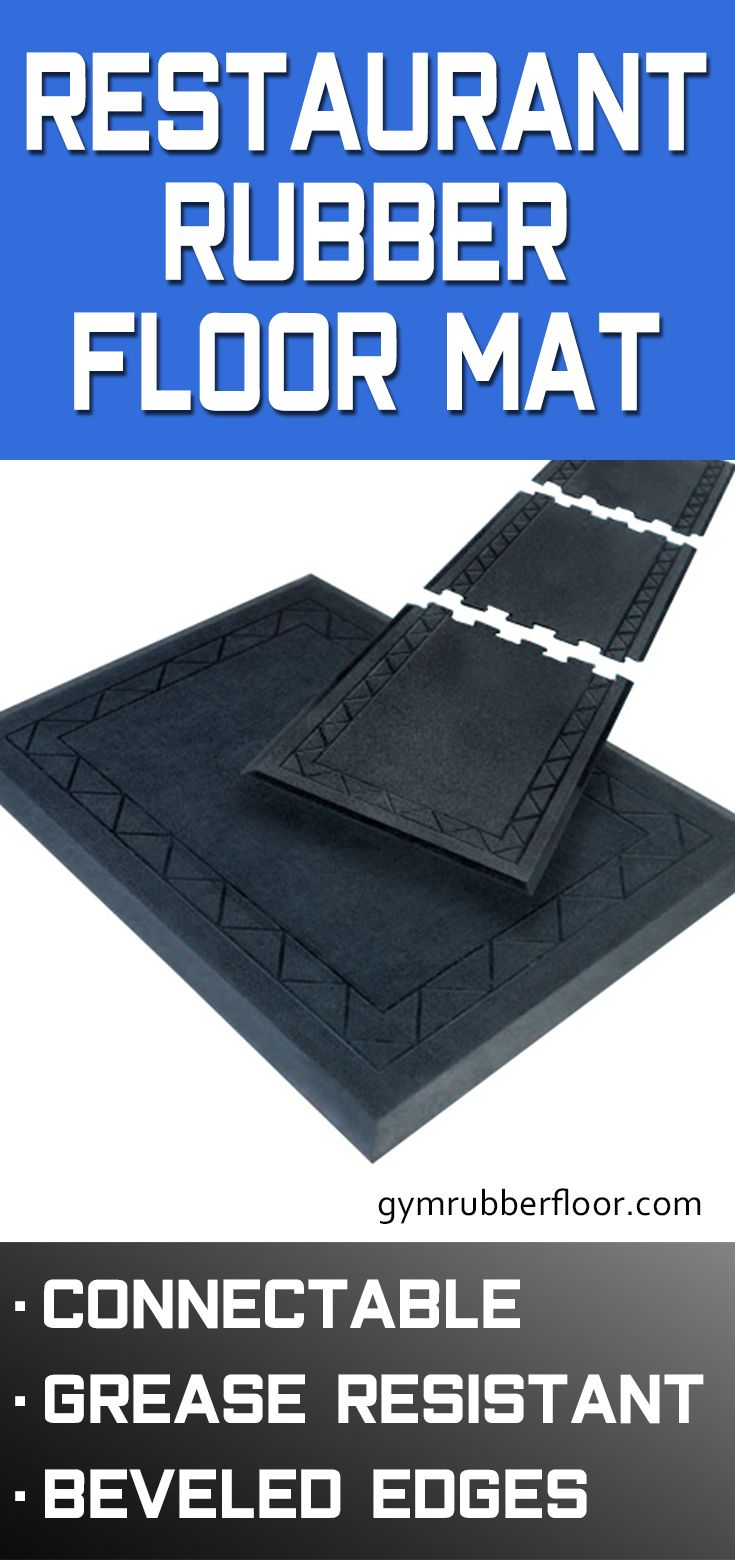 Comfort Zone Grease Resistant Mat 28x36 Inches Rubber Flooring Rubber Floor Mats Rubber Mat