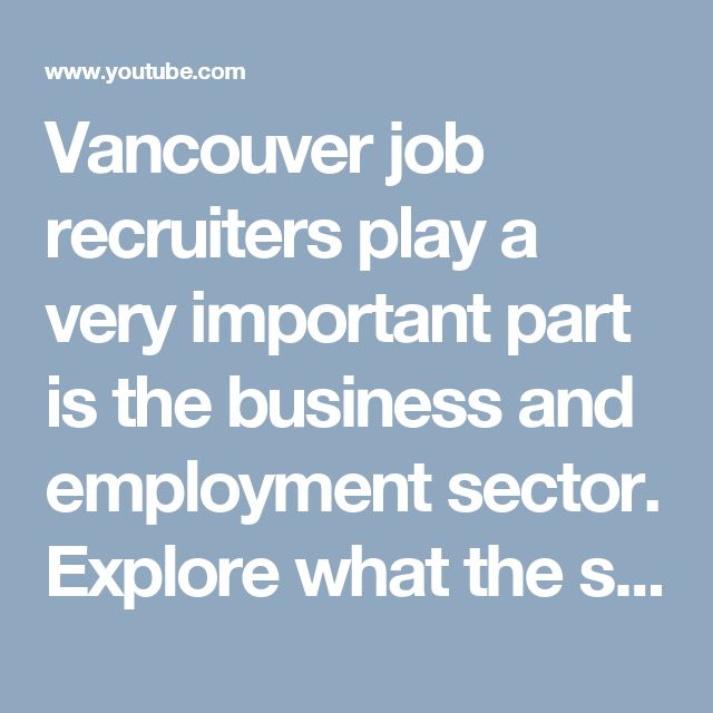 Vancouver job recruiters play a very important part is the business and employment sector. Explore what the sector has in store for you based on your qualifications or requirements by approaching a professional Vancouver recruiter.Visit here http://ilinkglobalrecruiting.com/