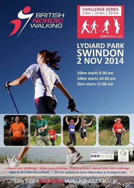 British Nordic Walking Convention at Lydiard Park, Swindon, 1 & 2 November 2014.