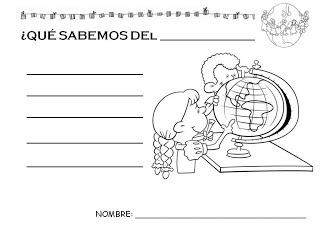 Els projectes de treball a Infantil: Projecte de treball: la Vuelta al mundo
