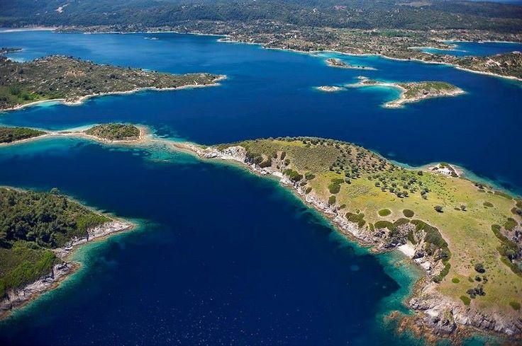 Aerial of Diaporos island, Vourvourou, Halkidiki, Greece ✯ ωнιмѕу ѕαη∂у