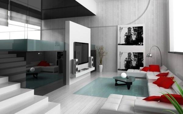Elegáns, minimalista stílusú nappalik