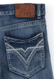 1897 Lowrise Bootcut Jeans with Medium Wash for Men