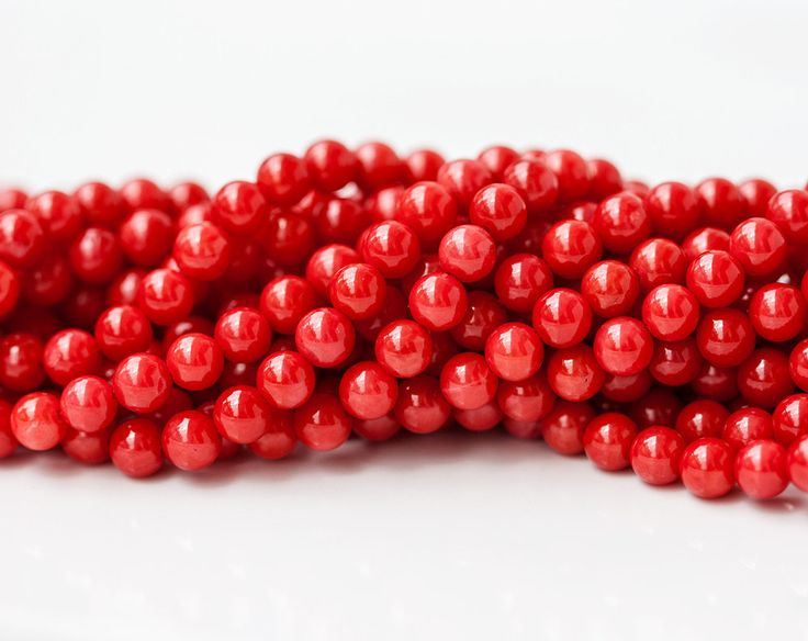 2658_Small red coral 4.5 mm, Round beads, Red beads, Natural beads, Natural coral, Coral gemstones, Round beads, Round coral, Red stone bead by PurrrMurrr on Etsy