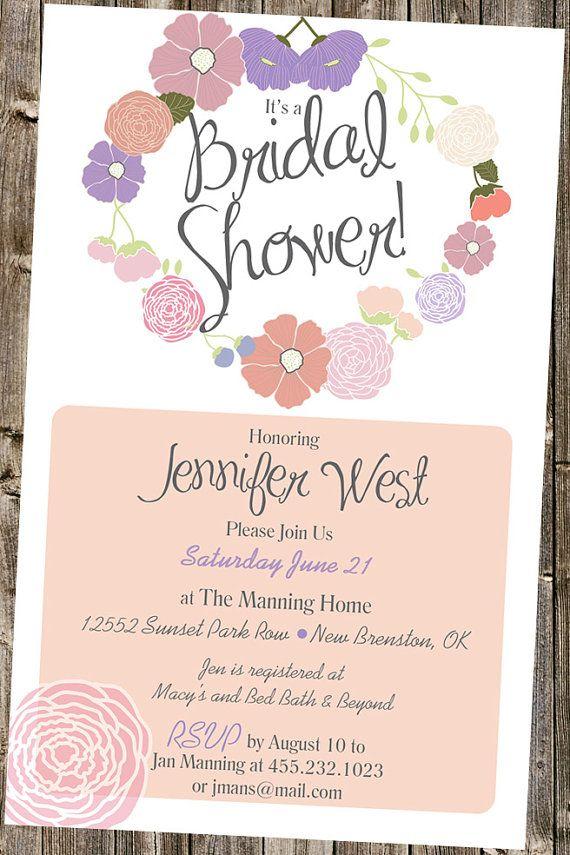 bed bath and beyond wedding invitation kits%0A Bridal Shower Garden Flowers