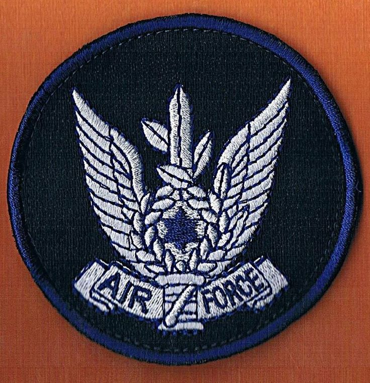 ISRAEL IDF THE AIR FORCE RARE FOR ABROAD PILOTS MISSIONS BLACK FASTENER PATCH