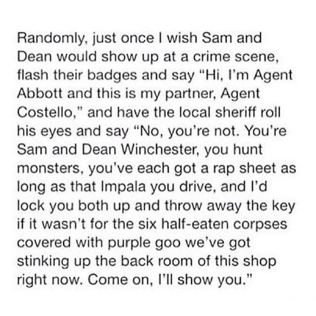 Imagine their faces #spn #supernatural #samwinchester #sam #deanwinchester #dean #castiel ...