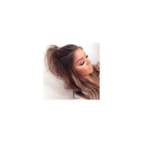 Hair Trend Half Ponytail ❤ liked on Polyvore featuring accessories and hair accessories