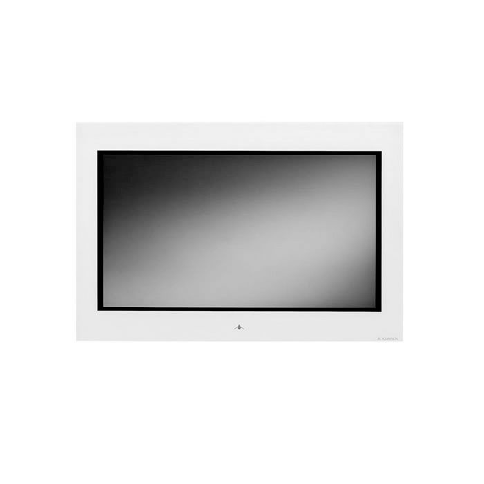 "Aquavision 19"" Frameless Waterproof LCD TV, in white.  Bathroom TVs from UK Bathrooms  #Hitech #bathroom"