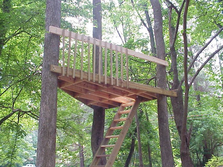how to build a very simple treehouse