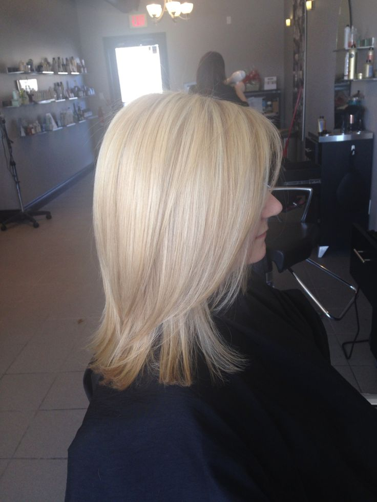 Buttery blonde with platinum highlites , love!