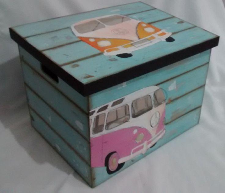 Caixa Kombi Retrô | jupi artes - pintura e decoupagem em mdf | Elo7