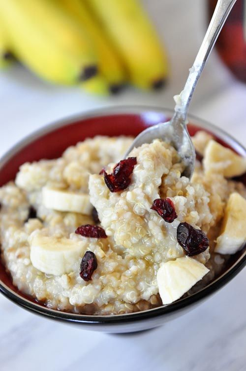 Overnight Steel Cut Oats ~ Sometimes we get a little wild and crazy with this recipe and use half quinoa, half steel cut oats. The directions and water/salt amounts are completely the same, just change out half the steel cut oats for rinsed quinoa. Yum!