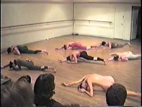 "Martha Graham Principal Dancer Katherine Crockett in rehearsal of ""Acts of Light"""