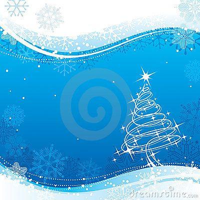 Vector Illustration about Blue Christmas