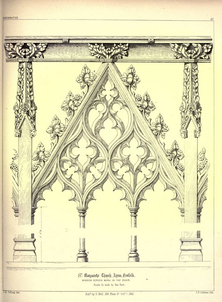 James Kellaway Colling. Plates from Colling's Gothic Ornament. 1847. Gothic Architectural ornaments.