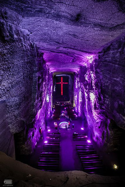 Salt Cathedral of Zipaquirá, Cundinamarca, Colombia. Visited this Cathedral during a trip to Colombia years ago & it was amazing