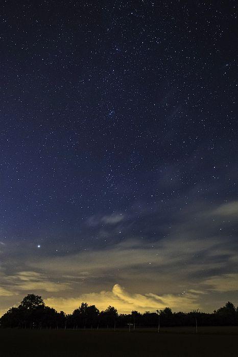 Blue starry night with orange clouds illuminated by the city lights. http://fineartamerica.com/fea…/night-dream-martin-capek.html ------ #night #stars #astrophotography #nikon #dream #blue #star #universe #nightsky #galaxy #cool