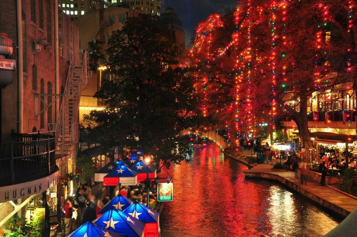 RiverWalk in San Antonio at Night  - Idea for next New Years!