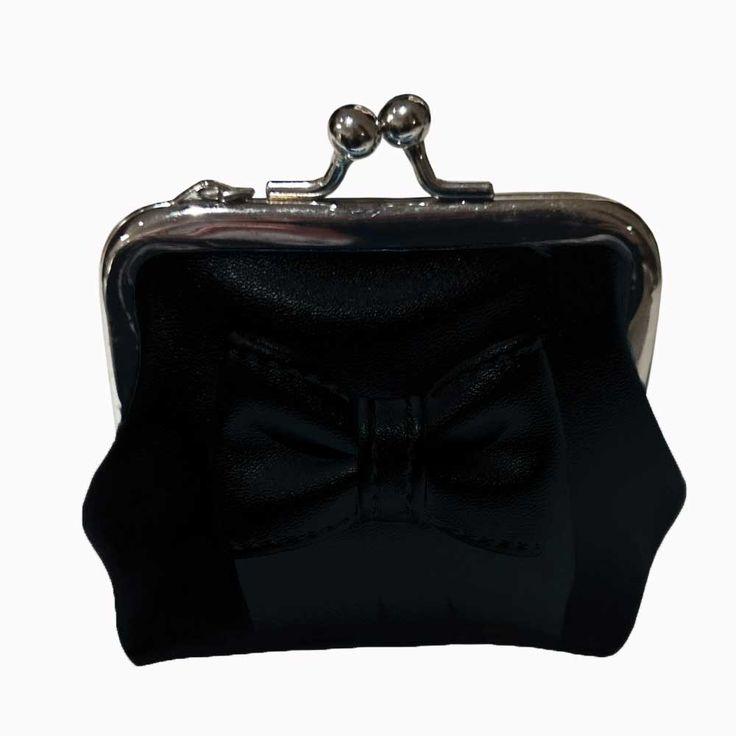 Banned Sienna pastel portemonnee met strik zwart - Banned   Attitude H