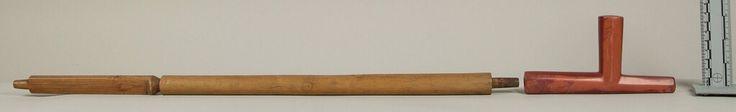 Трубка, Шайены. Вид один. Дата поступления 1898 год. Коллекция Emile Granier. NMNH.
