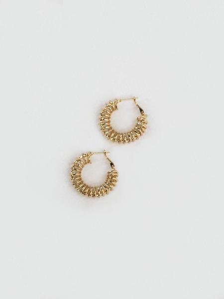 Spiral Hoop Earrings by Reliquia