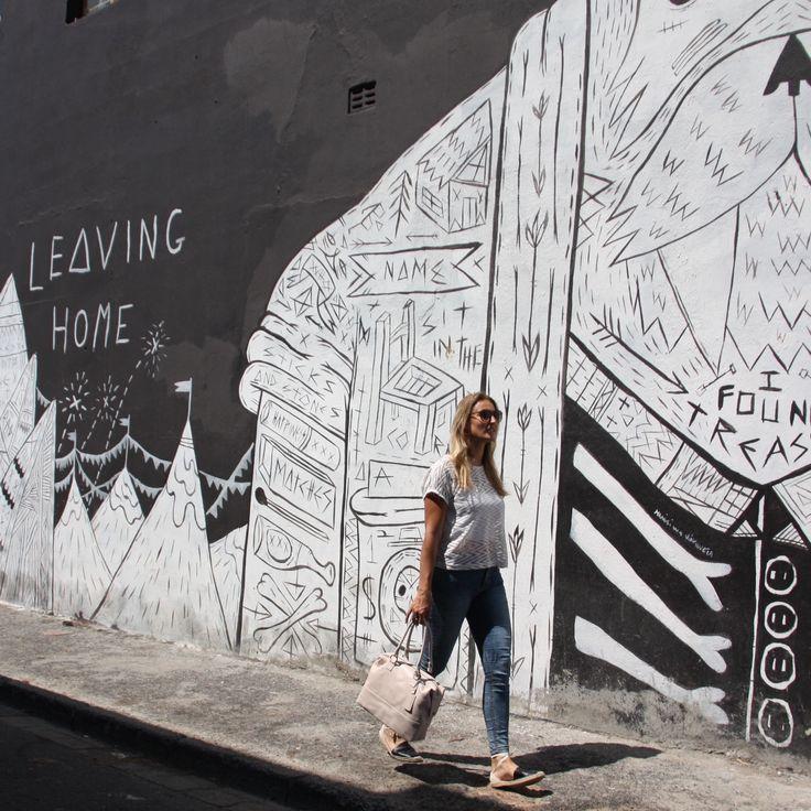 jingerjackStreet Art meets Street Style #NiceThingsOnEarth #Poppy #streetstyle #streetwear #spotted #fashion #sablog #southafrica #jingerjack #leatherbag #capetown #streetart #woodstock #instafashion