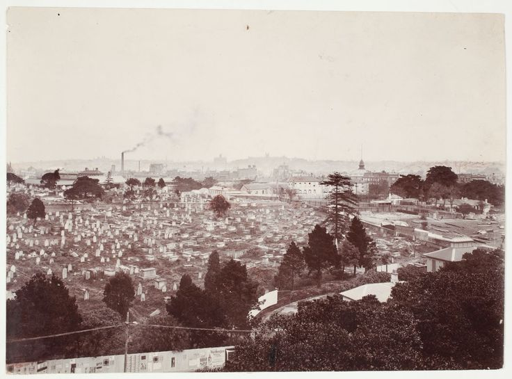 Sandhills Cematery, Devonshire Street, Surry Hills. Now Central & Redfern train stations. #2/2 State LIbrary, NSW