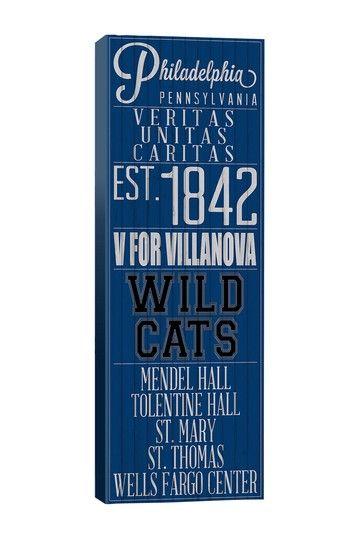 Villanova campus art- definitely prettier and cheaper than anything in the bookstore... #villanova #wildcats