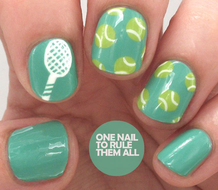 One Nail To Rule Them All: Tennis/Wimbledon Nail Art for Avon
