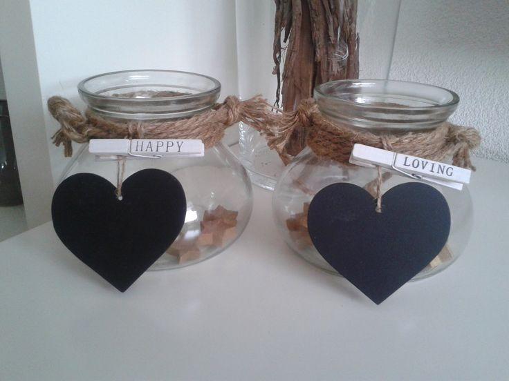 potjes met touw van de action hartjes van de xenos en de knijpers bij wibra voor een paar euro. Black Bedroom Furniture Sets. Home Design Ideas
