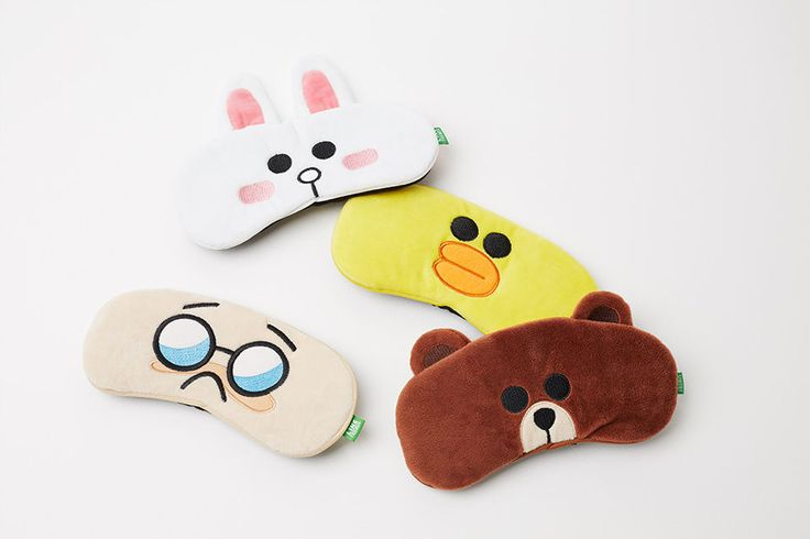 LINE FRIENDS Character Sleep Shade Sleeping Mask 4 Types BROWN CONY SALLY BOSS #LINEFRIENDS