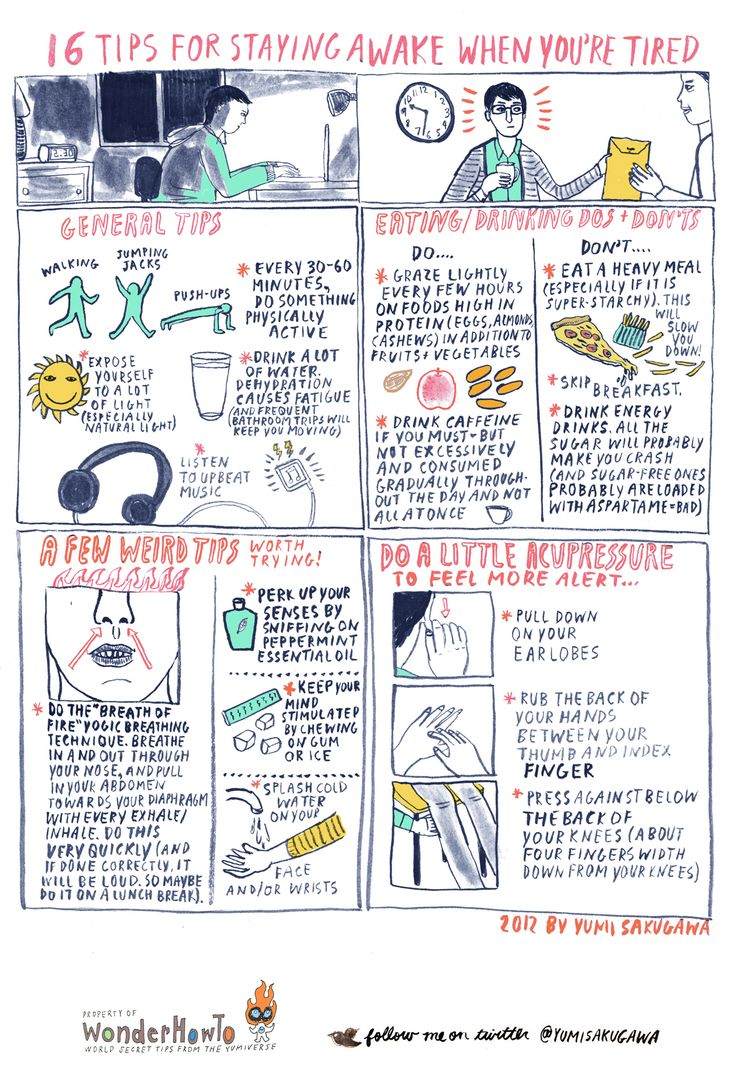 16 Tips for Staying Awake When You're Tired...need to keep these in mind the next time finals roll around