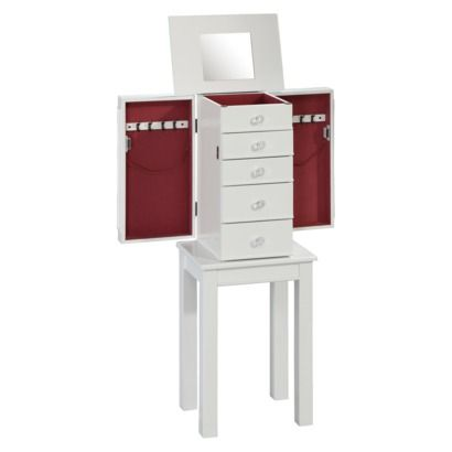 Threshold™ Cottage Jewelry Armoire - White