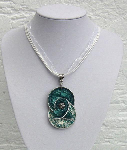 Colliers - Kunstvolles Collier aus Nespressokapseln - ein Designerstück von schmuckkreation-petra bei DaWanda