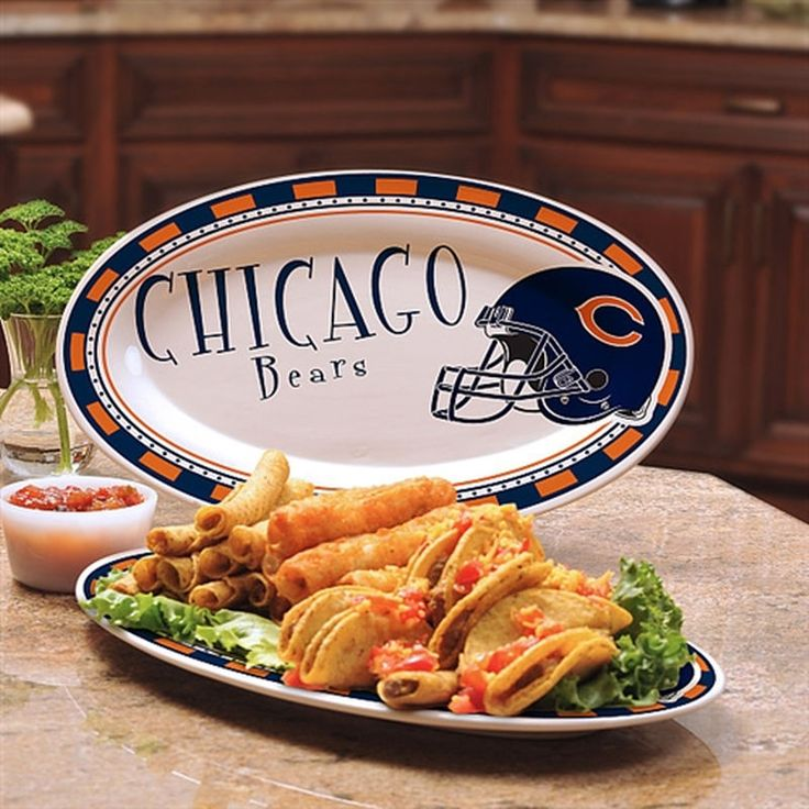 Chicago Bears Game Day Serving Platter