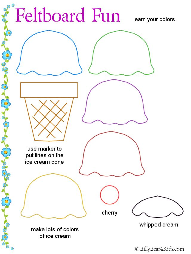 Ice cream cone Template Will use this with felt - for a nice Christmas Ornament