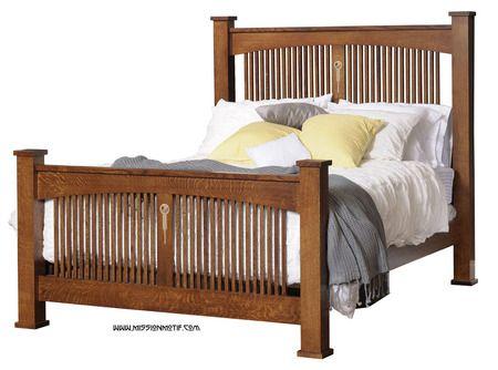 Craftsman Spindle Bed, Bedroom Mission Furniture, Tree Crowns Furniture, Mission Furniture