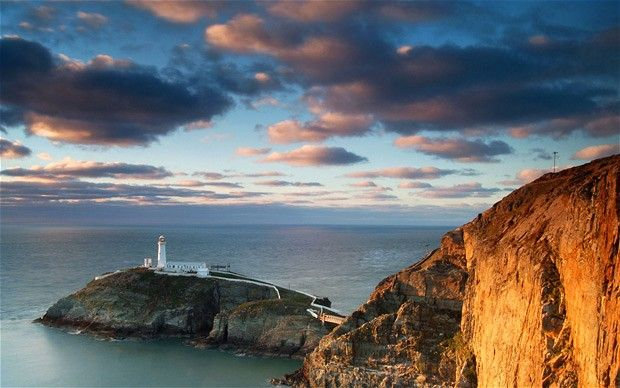 One of Britain's most dramatic lighthouses, South Stack