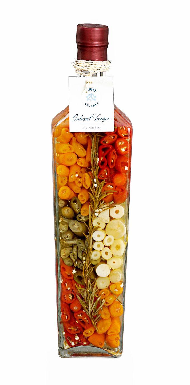 Cono Decorated Vinegar Bottle Infusions Kitchen Decor