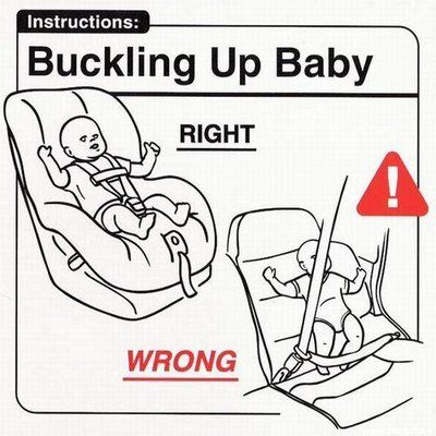 Don't strap your baby into a regular seat and seatbelt. Celebs take note!